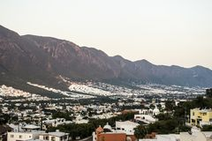 Parte sul da cidade de Monterrey, Nuevo Leon, México imagens de stock