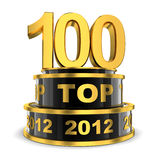 Parte superior 100 do ano Fotografia de Stock Royalty Free