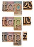 Parte superior 20, 10, 5 Foto de Stock Royalty Free