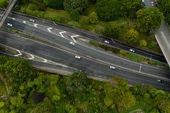 Parte superior abaixo da vista, Wellington Urban Motorway imagem de stock