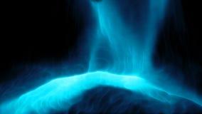 Parte superior bonita da queda dos líquidos das partículas para baixo vídeos de arquivo