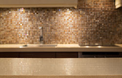Parte superior contrária de mármore vazia Imagem de Stock