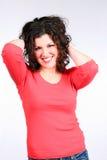 Parte superior Curly Fotos de Stock Royalty Free