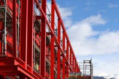 Parte superior da construção da viga de aço Fotos de Stock