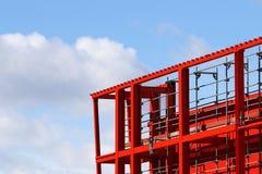 Parte superior da construção da viga de aço Imagem de Stock Royalty Free