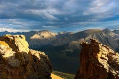 Parte superior da fuga Ridge Road em Rocky Mountain National Park fotografia de stock