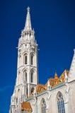 A parte superior da igreja de Matthias Imagens de Stock Royalty Free