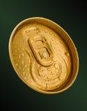 Parte superior da lata de cerveja do ouro Imagens de Stock Royalty Free