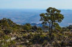 Parte superior da montanha foto de stock