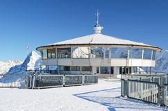 Parte superior da montanha de Schilthorn, Suíça Imagem de Stock