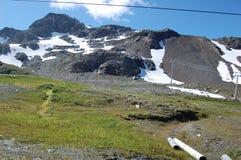Parte superior da montanha do assobiador em setembro Fotos de Stock Royalty Free