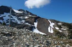 Parte superior da montanha do assobiador em setembro Fotos de Stock