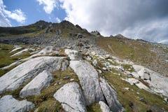 Parte superior da montanha dos alpes Imagem de Stock