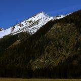Parte superior da montanha na mola Fotografia de Stock