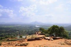 Parte superior da rocha de Sigiriya Imagem de Stock Royalty Free