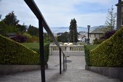 A parte superior da rua de Lyon pisa olhando para San Francisco Bay e Marín além, 5 Imagem de Stock Royalty Free
