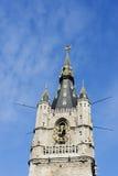 Parte superior da torre de sino de Ghent. Foto de Stock