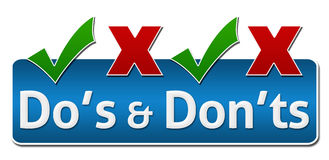 Parte superior de Dos And Donts Symbol On Foto de Stock Royalty Free