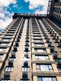 Parte superior de edificio de gran altura del negocio Fotos de archivo libres de regalías