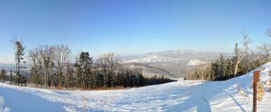 Parte superior de Pidan do monte para esquiar Imagem de Stock