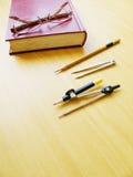 Parte superior de tabela do trabalho do estudante Fotografia de Stock