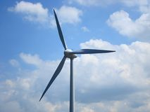 Parte superior de um moinho de vento foto de stock