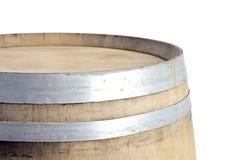 Parte superior de um tambor de vinho usado do carvalho Fotos de Stock