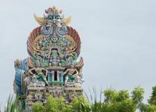Parte superior de um Vimanam por motivos do templo de Meenakshi Imagem de Stock