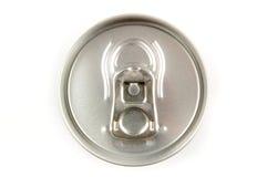 Parte superior de uma lata de soda da lata Foto de Stock Royalty Free