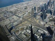Parte superior do arranha-céus de Burj Khalifa Fotografia de Stock Royalty Free