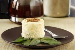 Pequeno almoço do bolo da mandioca Imagens de Stock