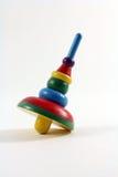 Parte superior do brinquedo das crianças de madeira coloridas Fotos de Stock Royalty Free