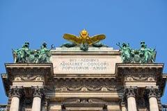 Parte superior do Burg de Neue em Viena foto de stock royalty free