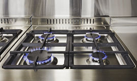 Parte superior do gás da cozinha imagem de stock royalty free