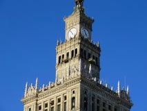 Parte superior do palácio da cultura e da ciência Fotos de Stock Royalty Free