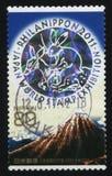 Parte superior do selo da montanha imagem de stock