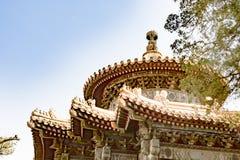 Parte superior do templo chinês fotografia de stock