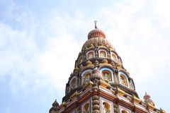 Parte superior do templo Hindu Foto de Stock Royalty Free