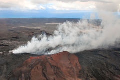 Parte superior do vulcão de fumo Foto de Stock Royalty Free