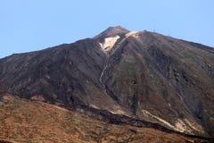 A parte superior do vulcão de Teide fotografia de stock