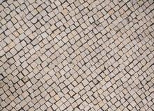 Parte superior portuguesa do pavimento/passeio abaixo da vista fotos de stock royalty free