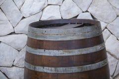 Parte superior rústica do tambor do carvalho Fotografia de Stock