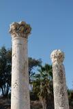 Parte superior romana antiga das colunas Fotografia de Stock