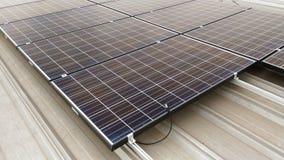 Parte superior solar do telhado Fotografia de Stock Royalty Free