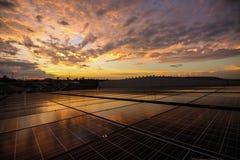 Parte superior solar do telhado Imagem de Stock