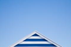 Parte superior Stripy da cabana da praia Fotografia de Stock