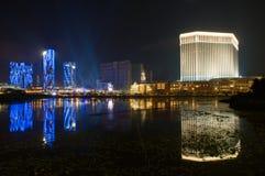 Parte superiore & casinò veneziani, Macau Immagini Stock Libere da Diritti