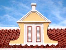 Parte superiore caraibica del tetto Immagini Stock