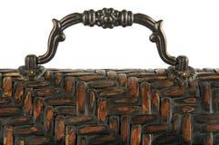 Parte superiore decorata del contenitore di orologio del carrello Fotografie Stock Libere da Diritti