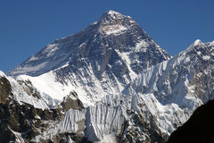 Parte superiore del mondo Everest 8848 Immagini Stock